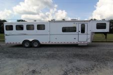 #A0538 - Used 2008 Sundowner 8410LQ 4 Horse Trailer  with 10' Short Wall