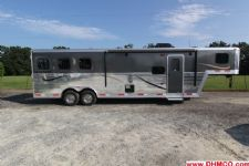 #03656 - New 2014 Bison Stratus Express 8310GLQ 3 Horse Trailer  with 10' Short Wall