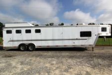 #15404 - Used 2002 Exiss SS410MTLQ 4 Horse Trailer  with 14' Short Wall