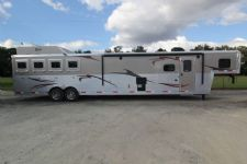 #03716 - New 2014 Bison Premiere 8417GLQUG 4 Horse Trailer  with 17' Short Wall