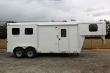 #03733 - New 2014 Bison 7260LQ Dixie Renegade 2 Horse Trailer  with 6' Short Wall