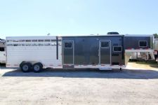 #61787 - New 2014 Exiss STC830LQ 3 Horse Trailer  with 10' Short Wall