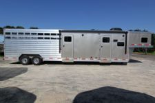 #61788 - New 2014 Exiss STC830LQ Stock Trailer  with 10' Short Wall