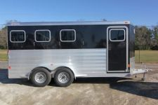 #61781 - New 2014 Exiss 630B 3 Horse Trailer  with 2' Short Wall