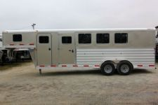 #61786 - New 2014 Exiss 6400GN 4 Horse Trailer  with 4' Short Wall