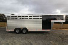 #61778 - New 2014 Exiss STC20 Stock Trailer  with 4' Short Wall