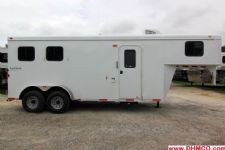 #03788 - New 2014 Bison 7260LQ Dixie Renegade 2 Horse Trailer  with 6' Short Wall