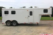#03789 - New 2014 Bison Trail Hand 7260LQ S 2 Horse Trailer  with 6' Short Wall