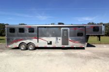 #03807 - New 2014 Bison Trail Express 8312GLQ 3 Horse Trailer  with 12' Short Wall