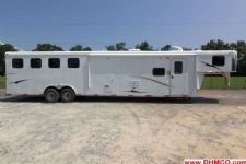 #03814 - New 2014 Bison Trail Express 8414GLQBK 4 Horse Trailer  with 14' Short Wall