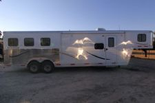 #03815 - New 2014 Bison Laredo 8310LQ 3 Horse Trailer  with 10' Short Wall