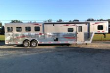 #03736 - New 2014 Bison Silverado 8412GLQ BAR 4 Horse Trailer  with 12' Short Wall