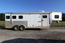 #49098 - Used 2005 Kiefer Built 7380LQ 3 Horse Trailer  with 8' Short Wall