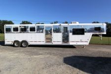 #51691 - Used 1996 Hart  4 Horse Trailer  with 10' Short Wall