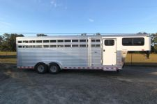 #A8725 - New 2014 Sundowner RANCHER24GNTR Stock Trailer  with 4' Short Wall