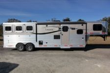 #87818 - New 2014 Lakota Charger 8311LQ 3 Horse Trailer  with 11' Short Wall