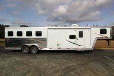#03876 - New 2014 Bison Laredo 7410GLQ 4 Horse Trailer  with 10' Short Wall
