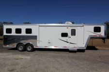 #03889 - New 2014 Bison Laredo 8310LQ 3 Horse Trailer  with 10' Short Wall