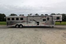#03687 - New 2014 Bison Silverado 8416GLQ 4 Horse Trailer  with 16' Short Wall
