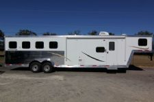 #03936 - New 2014 Bison Stratus Express 7410GLQ 4 Horse Trailer  with 10' Short Wall