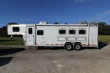 #02560 - Used 1999 Cherokee  3 Horse Trailer  with 10' Short Wall