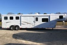 #03981 - New 2014 Bison 8314LQSD Dixie Ranch House 3 Horse Trailer  with 14' Short Wall