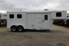 #03983 - New 2014 Bison 7260LQ Dixie Renegade S 2 Horse Trailer  with 6' Short Wall