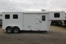 #03984 - New 2014 Bison 7260LQ Dixie Renegade S 2 Horse Trailer  with 6' Short Wall