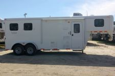 #03985 - New 2014 Bison 7260LQ Dixie Renegade S 2 Horse Trailer  with 6' Short Wall