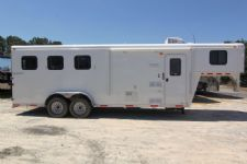 #03986 - New 2014 Bison 7360 Dixie Renegade S 3 Horse Trailer  with 6' Short Wall