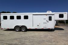 #03990 - New 2014 Bison Trail Hand 7460LQ S 4 Horse Trailer  with 6' Short Wall