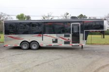 #03994 - New 2014 Bison Trail Express 8380GLQ 3 Horse Trailer  with 8' Short Wall