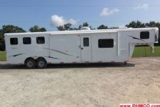 #03999 - New 2014 Bison 8314LQSD Dixie Ranch House 3 Horse Trailer  with 14' Short Wall
