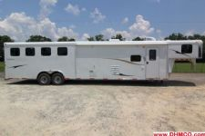 #04001 - New 2014 Bison Ranger 8414LQBK 4 Horse Trailer  with 14' Short Wall