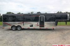 #04003 - New 2014 Bison Trail Express 8312GLQ 3 Horse Trailer  with 12' Short Wall