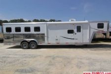 #04008 - New 2014 Bison Laredo 7410GLQ 4 Horse Trailer  with 10' Short Wall