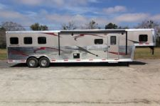 #04012 - New 2014 Bison Silverado 8313GLQ Bar 3 Horse Trailer  with 13' Short Wall