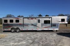 #04013 - New 2014 Bison Silverado 8315GLQSD 2 Horse Trailer  with 15' Short Wall