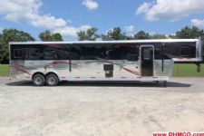 #04015 - New 2014 Bison Silverado 8316GLQ 3 Horse Trailer  with 16' Short Wall
