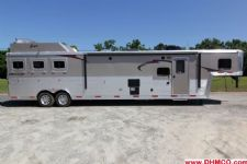 #04016 - New 2014 Bison Silverado 8316GLQUG 3 Horse Trailer  with 16' Short Wall