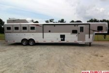 #04018 - New 2014 Bison Silverado 8416GLQ 2 Horse Trailer  with 16' Short Wall
