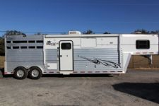 #11501 - Used 2001 Bloomer 8310LQ 3 Horse Trailer  with 10' Short Wall