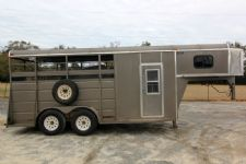 #40228 - Used 2008 Ponderosa  3 Horse Trailer  with 2' Short Wall