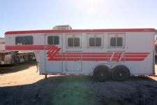 #00208 - Used 1997 Sooner  3 Horse Trailer  with 4' Short Wall