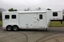 #04209 - New 2014 Bison Stratus LT 7280LQ 2 Horse Trailer  with 8' Short Wall