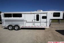 #02566 - Used 2004 Silver Star 7380GLQ 3 Horse Trailer  with 8' Short Wall