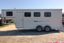 #77870 - New 2014 Dixie Tuff 3HGNSL 3 Horse Trailer  with 2' Short Wall