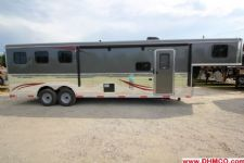 #04241 - New 2015 Bison Ranger 8310GLQ 3 Horse Trailer  with 10' Short Wall