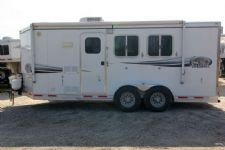 #87864 - Used 2008 Lakota  2 Horse Trailer  with 13' Short Wall