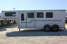 #01458 - Used 2002 Silver Star  3 Horse Trailer  with 4' Short Wall